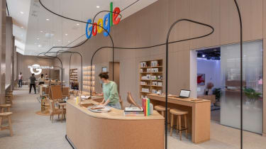 The main checkout desk at Google's new store in New York