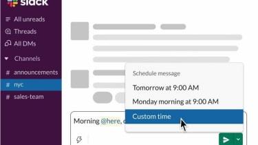 Slack's new schedule send feature