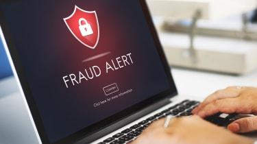 """""""Fraud Alert"""" on a computer screen"""