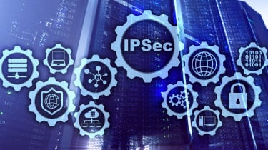 IPsec and a series of security icon in small circles