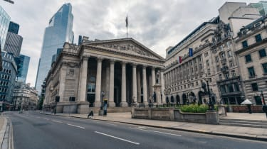 The Bank of England seen from the street