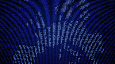 A map of Europe made from numbers