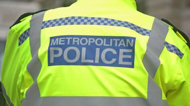 British Metropolitan Police Officer in Hi-visibility Uniform