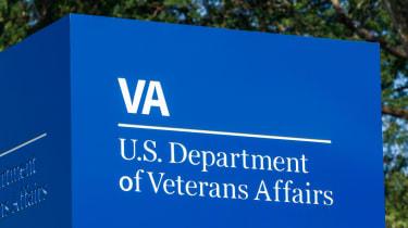 Blue US Department of Veterans Affairs sign