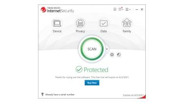 A screenshot of Trend Micro Internet Security