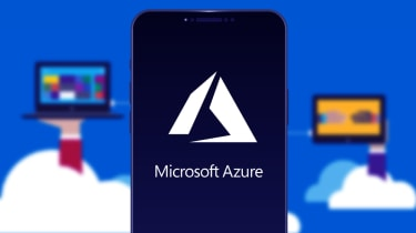 A smartphone with the Microsoft Azure logo
