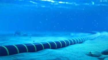 an undersea cable used to transport internet traffic around the world