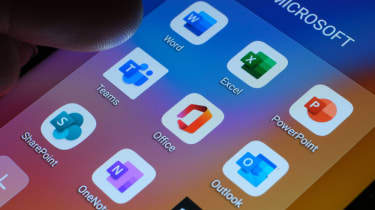 Microsoft's Office 365 apps on a smartphone