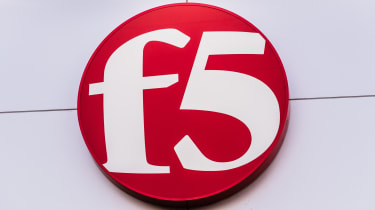 F5 sign on a white building
