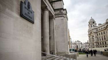Entrance to the Ministry of Defence UK ministerial office in Whitehall