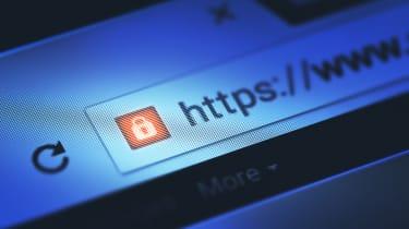 URL bar with an HTTPS: domain