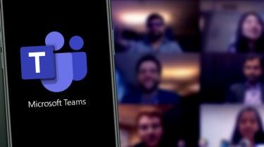 The Microsoft Teams app on a smartphone
