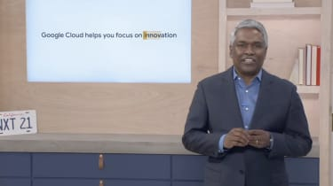 Thomas Kurian during his keynote for Google Cloud Next 2021