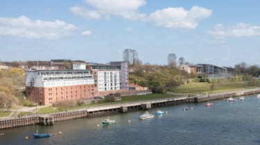 View of Sunderland University St Peters campus