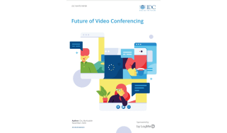 The future of video conferencing - overlapping screens with people video conferencing
