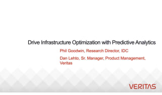 Veritas whitepaper - webcast - how to improve infrastructure management