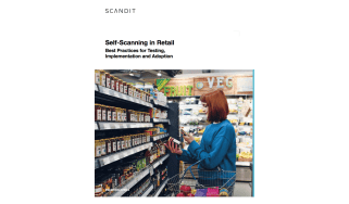 Woman shops with a self-scanner - best practices for self-scanning in retail and how to implement these practices - whitepaper