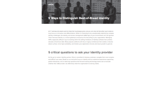 Five critical questions to ask your identity provider - whitepaper from Okta