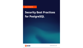 Security best practices for PostgreSQL - whitepaper from EDB