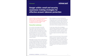 Security awareness training strategies for account takeover protection - whitepaper from Mimecast