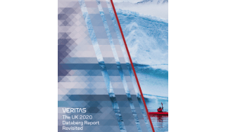 A man rowing a boat in front of an iceberg - The UK 2020 Databerg report  - whitepaper from Veritas