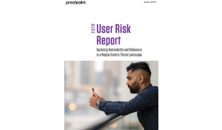 2020 user risk report - whitepaper from Proofpoint - a man on a balcony looking at his phone