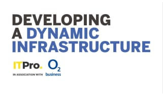 Developing a dynamic infrastructure - words against a white background - whitepaper from O2