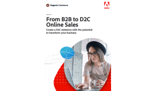 Woman in a hat on a laptop - whitepaper from Adobe