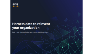 Title against a dark blue background with interconnected dots of light - whitepaper from AWS