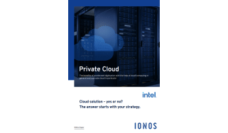 Blue clouds in a data centre- whitepaper from IONOS
