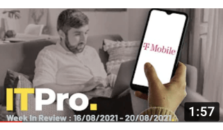 A montage of someone WFH and a mobile handset featuring the T-Mobile logo