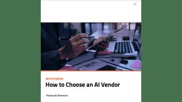 How to choose an AI vendor