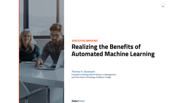 What are the benefits of automated machine learning - whitepaper from DataRobot