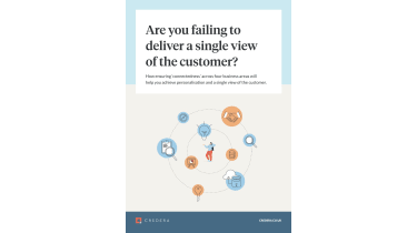 Are you failing to deliver a single view of the customer? - person surrounded by icons - whitepaper from Credera