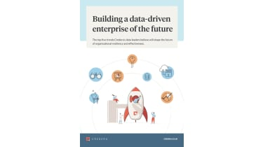 Animated people in and around a rocket ship - Building a data-driven enterprise of the future - whitepaper from Credera