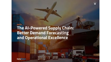 An airplane flying over a city - The AI-powered supply chain - whitepaper from DataRobot