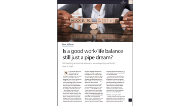 A man balances the words 'work' and 'life' on a cylindrical piece of wood - Is a good work/life balance still just a pipe dream? - The Business Briefing from IT Pro