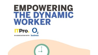 Empowering the dynamic worker - words against a white background with a green clock - whitepaper from O2
