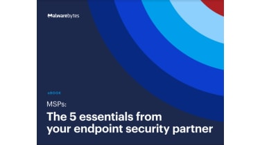 Five essentials from your endpoint security partner - title against a background of blue circles - whitepaper from Malwarebytes