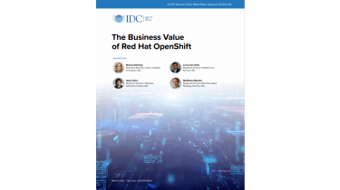 Cover with blue lights and IDC branding