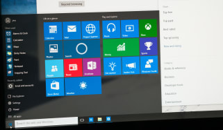 A computer screen displaying the Start menu in Windows 10