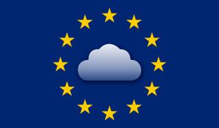 EU stars surrounding cloud