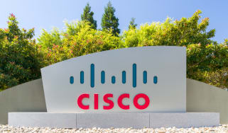 The Cisco sign outside its headquarters