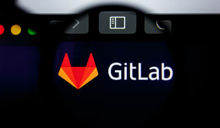 Gitlab logo visible on display screen
