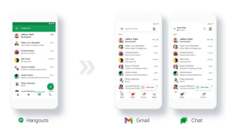 Mobile interfaces for Google Hangouts, Gmail and Google Chat