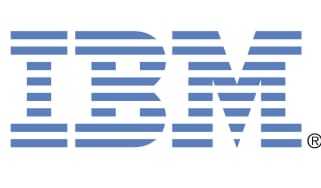 IBM logo on a white background