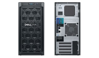 The front and back of the Dell EMC PowerEdge T140 against a white backgroundWith prices starting at just £538, the PowerEdge T140 is a tempting proposition for growing SMBs looking for their first purpose-built server. This sturdy little tower comes with