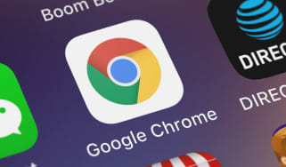 The Chrome app on a mobile phone