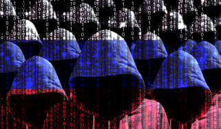 A group of hackers behind the Russian flag