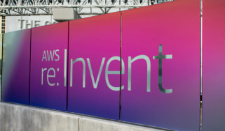 AWS re: Invent sign from Las Vegas